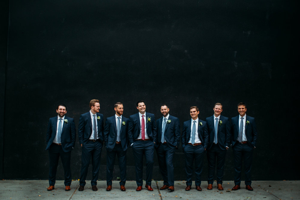 Downtown toronto wedding party portraits