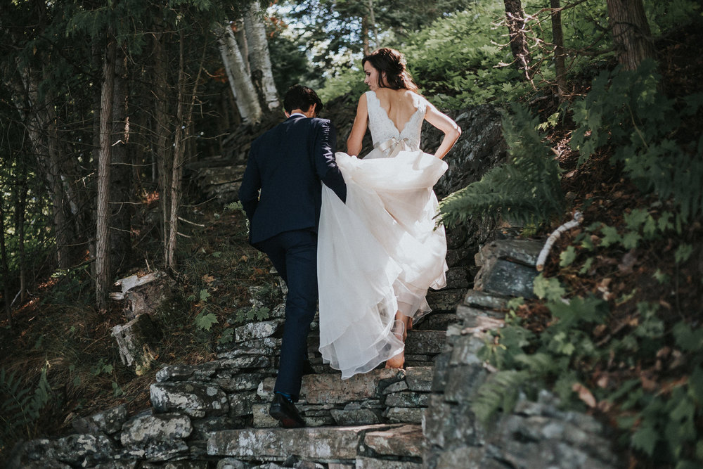 muskoka cottage intimate wedding