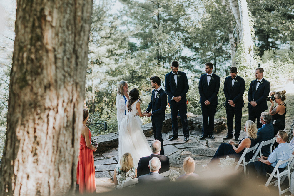 intimate muskoka wedding ceremony