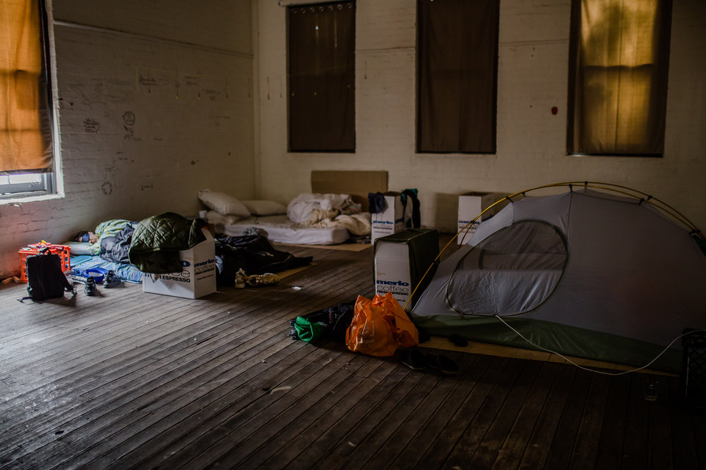 Field Theory's sleeping quarters at the Queen Victoria Market. Photo by Bryony Jackson.