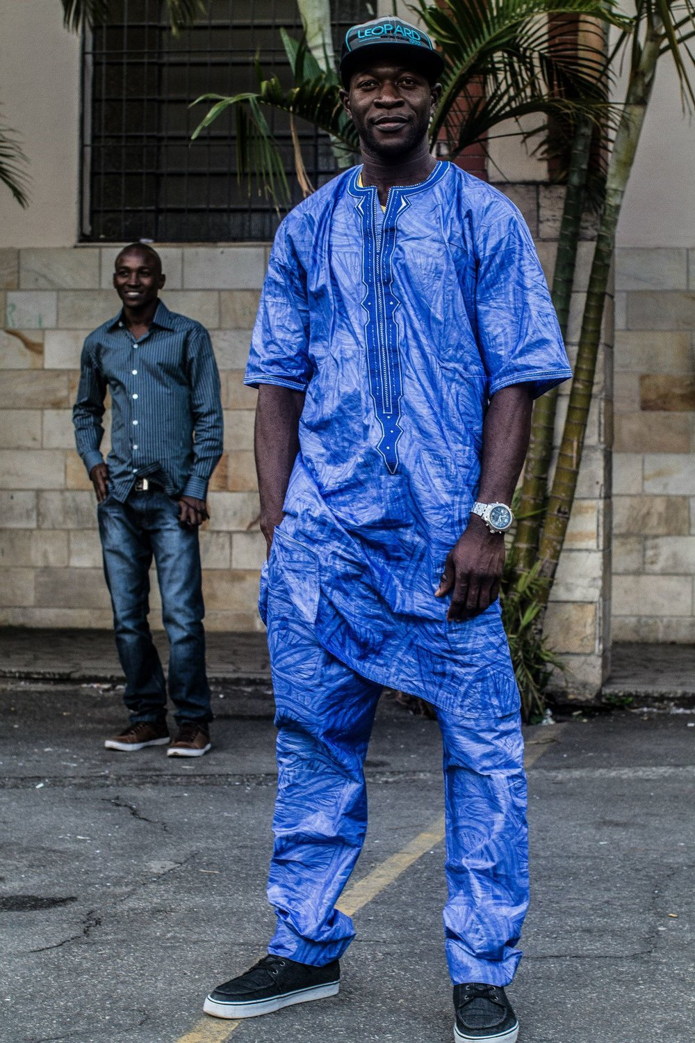 Abou Traore, 31 years old, six months in Brazil and a butcher in Sao Paulo - he was a truck driver in Mali.