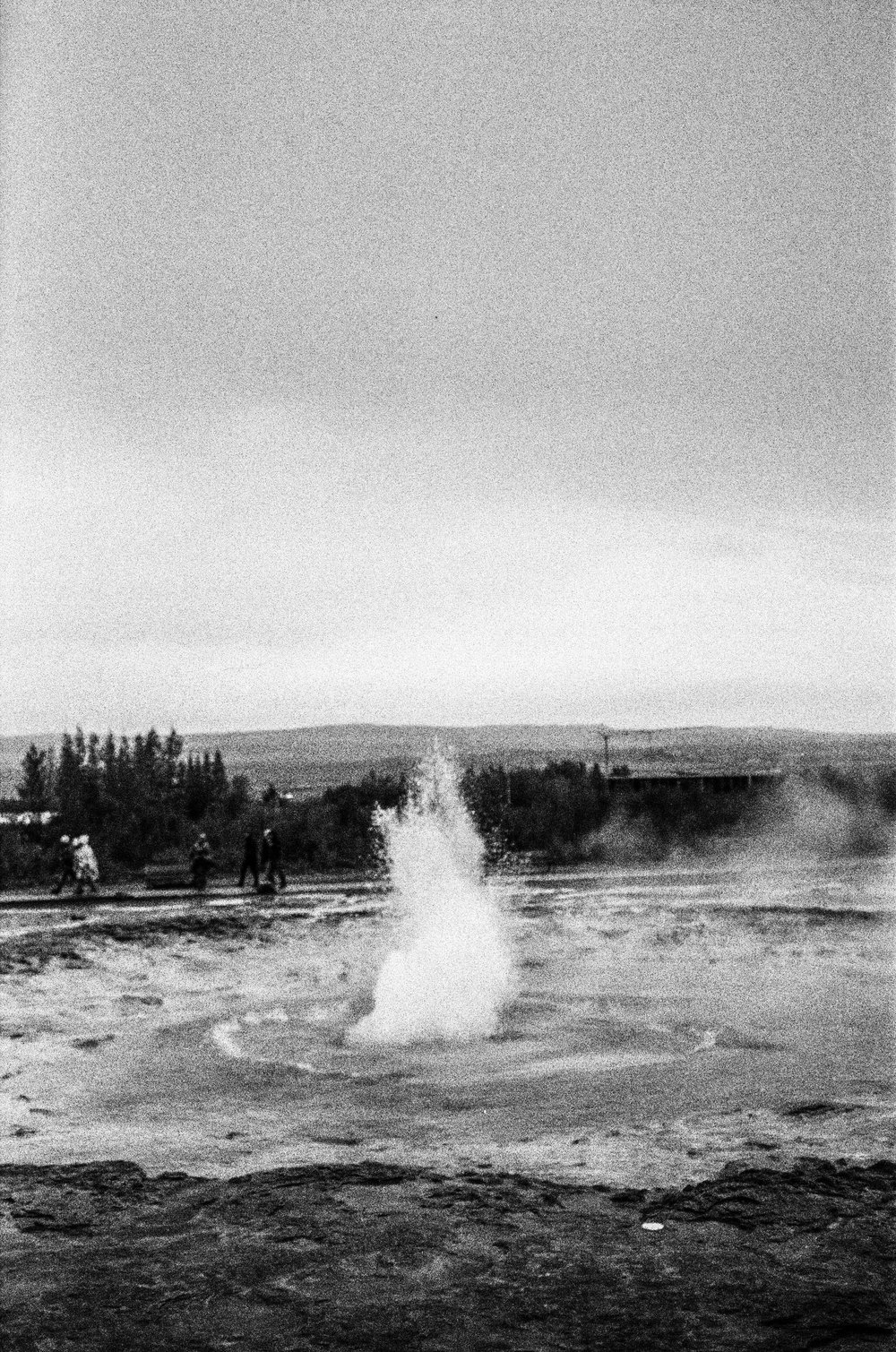 Strokkur  (film) -  Eruptions at  Strokkur  can hurl boiling water up to 30 metres in the air.