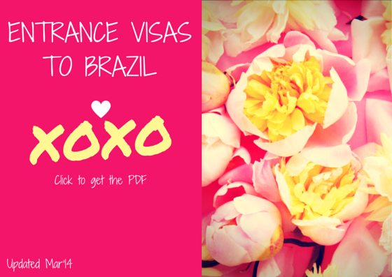 Entrance Visas to Brazil