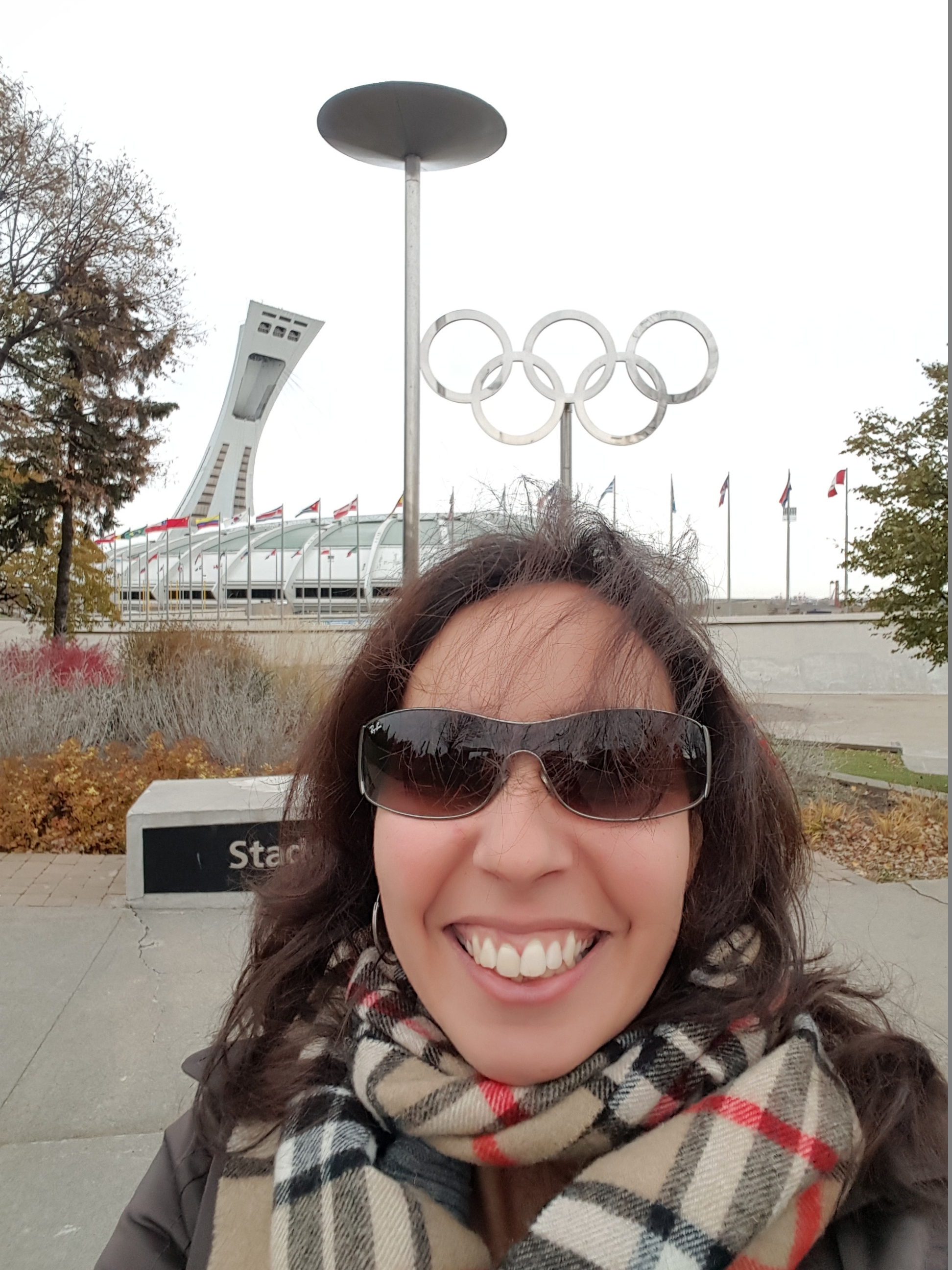The Olympic symbol behind me is amazing.