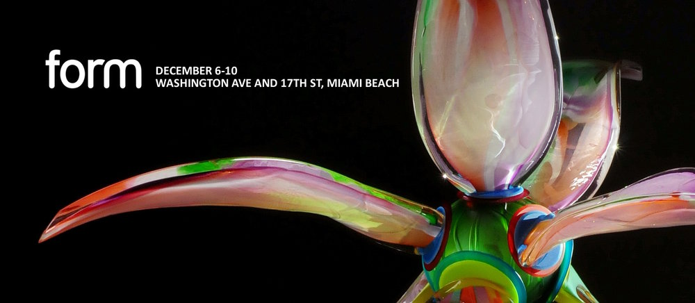 FORM Miami is an Miami Art Week's first fair focused on materiality and the rich history of the applied arts. This boutique art fair will feature 25 galleries from around the globe presenting emerging and established artists making statements in three-dimensional artworks.