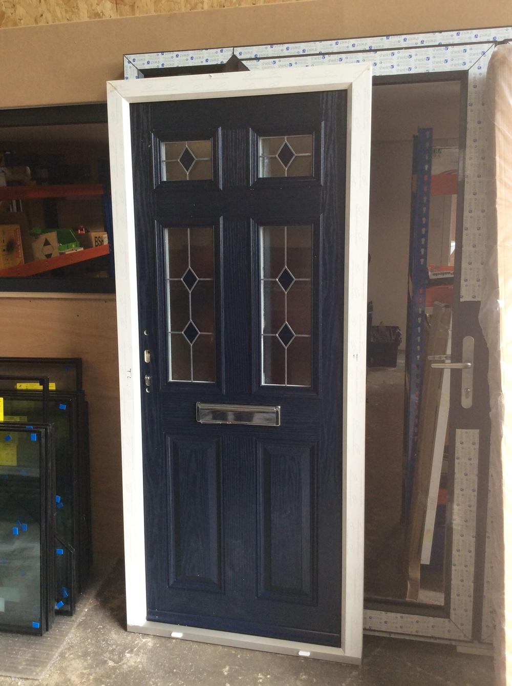 Double glazed composite door and frame 885 mm wide x 2010 mm high £500 + VAT