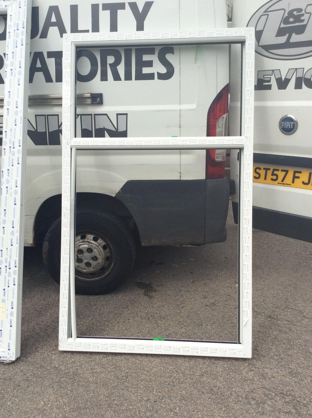White uPVC fixed window 1125 mm wide x 1880 mm high £50 + VAT