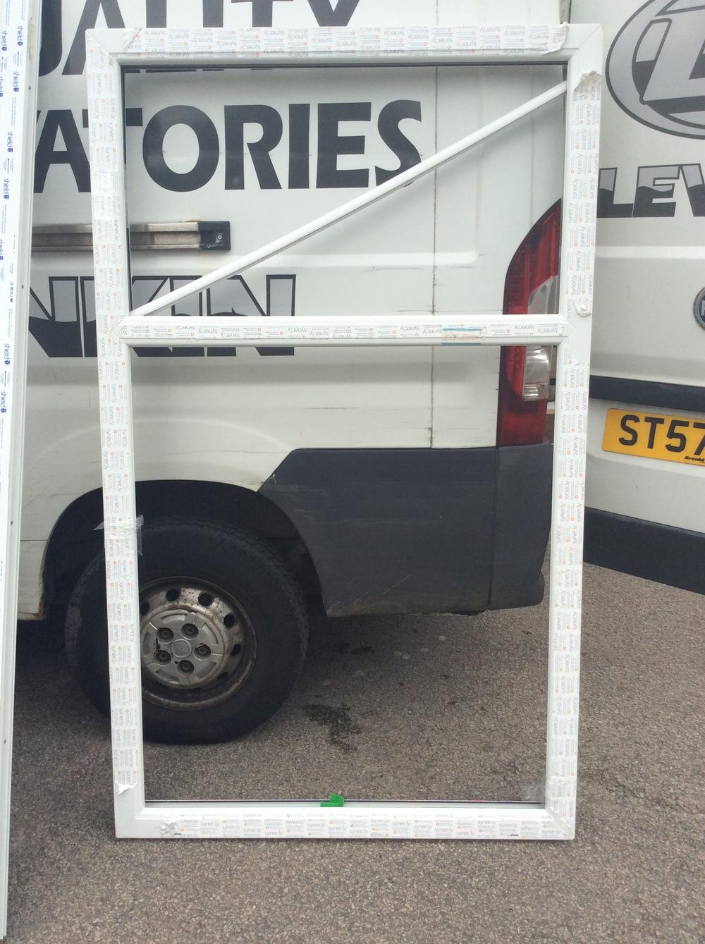 White uPVC fixed window 1120 mm wide x 1880 mm high £50 + VAT