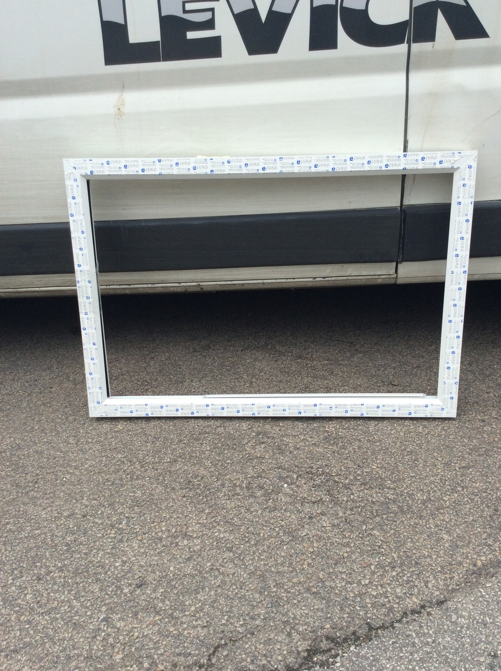 White uPVC fixed window 1210 mm wide x 830 mm high £25 + VAT