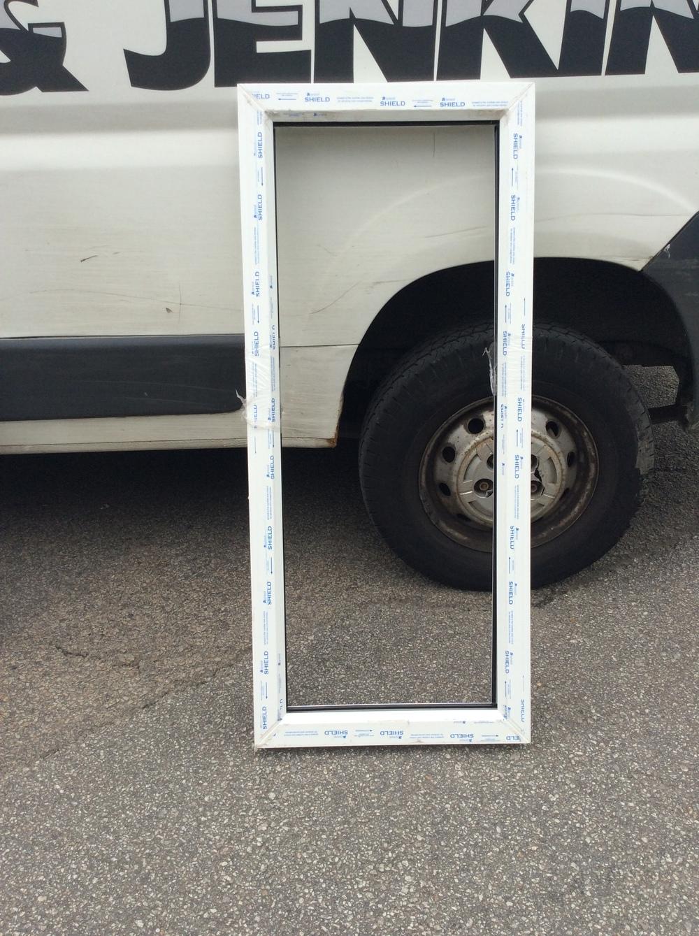 White uPVC fixed window 520 mm wide x 1200 mm high £25 + VAT