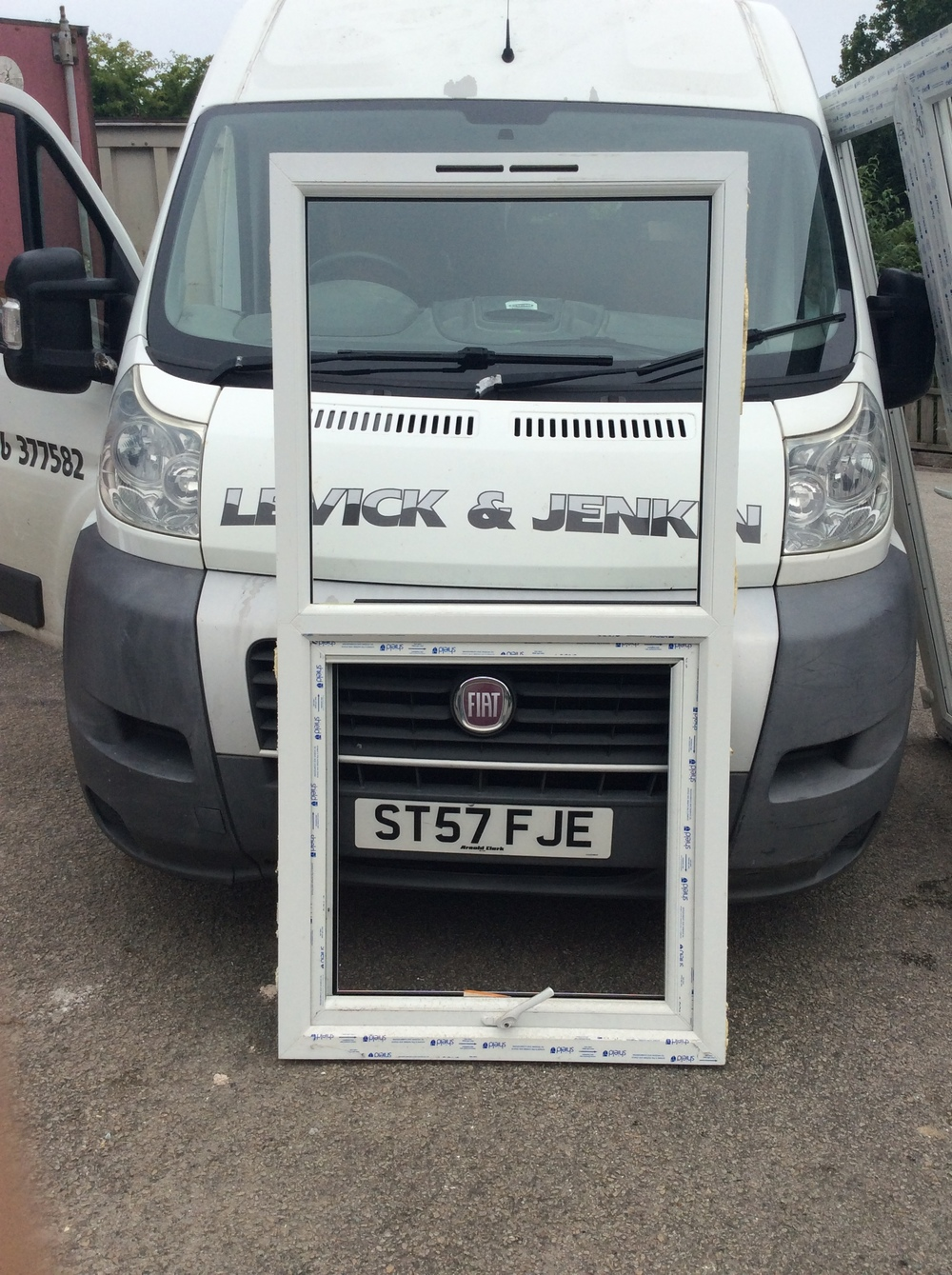 White uPVC window 865 mm wide x 1700 mm high £50 + VAT