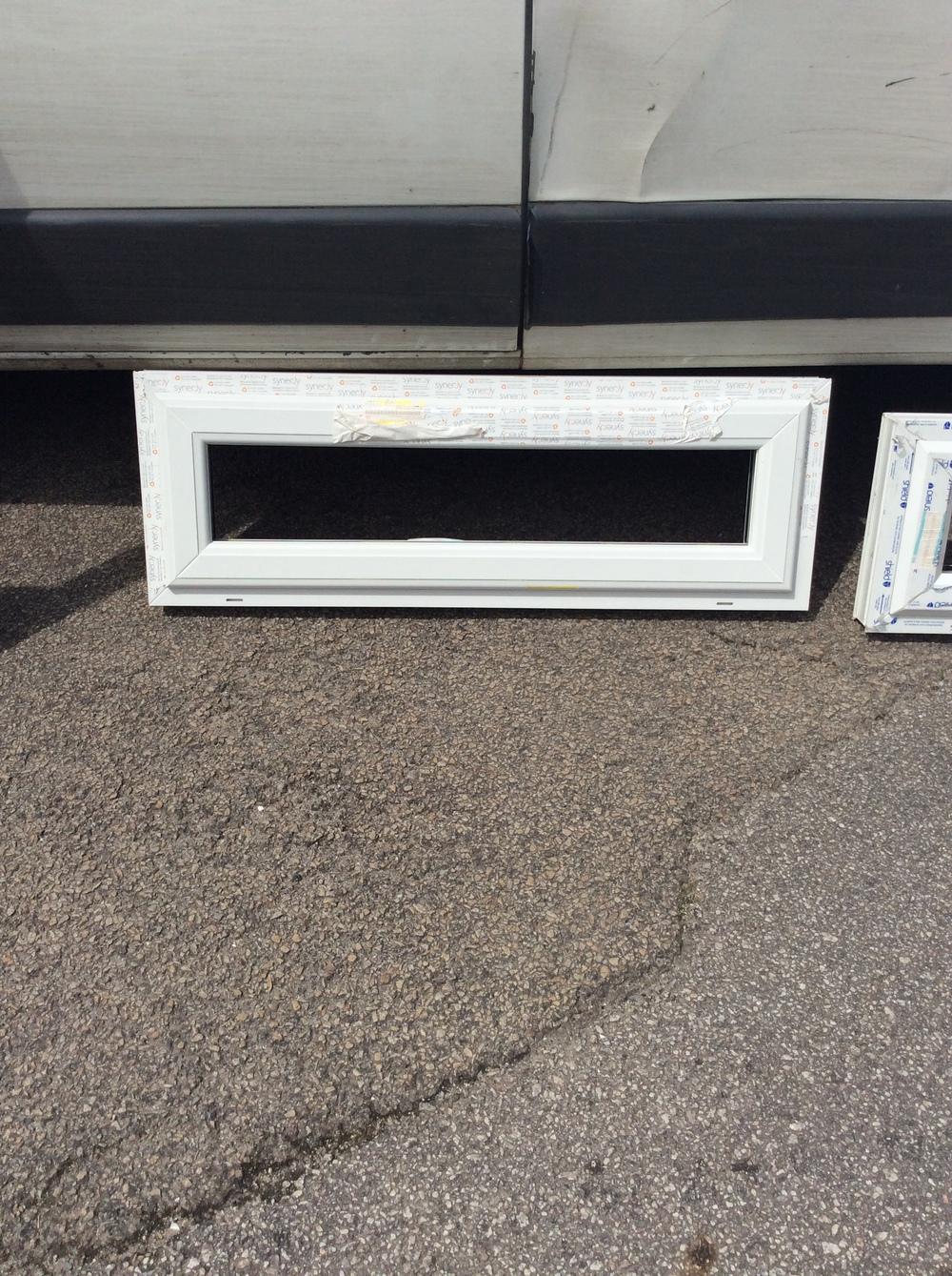 White uPVC casement window 1205 mm wide x 350 mm high £25 + VAT