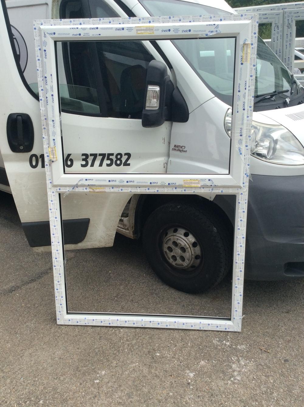 White uPVC window with fan light 1145 mm wide x 1770 mm high £50 + VAT