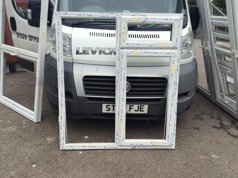 White uPVC casement window with fan light 1280 mm wide x 1450 mm high £50 + VAT