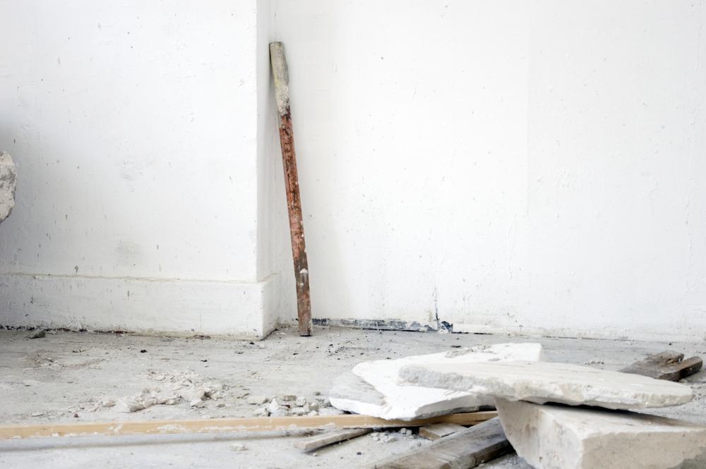 Atelier compositie, metaal, gips, hout, 10x10 cm, 2015, Maastricht, NL