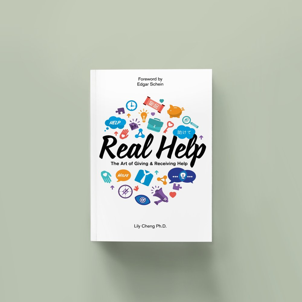 Real Help: The Art of Giving & Receiving Help    In a culture where seeking help from others is often interpreted as a sign of weakness, Dr. Lily Cheng shows how to give and receive help through real-life stories, personal reflection and expert guidance.