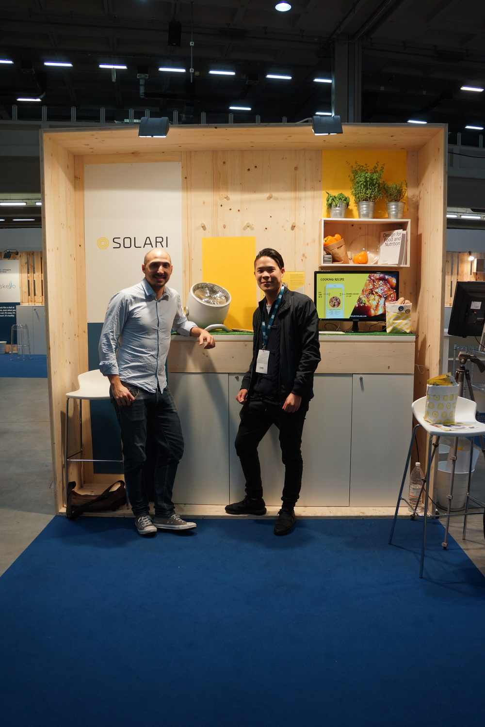 Bodin and Manuel at Seeds and Chips Solari Booth
