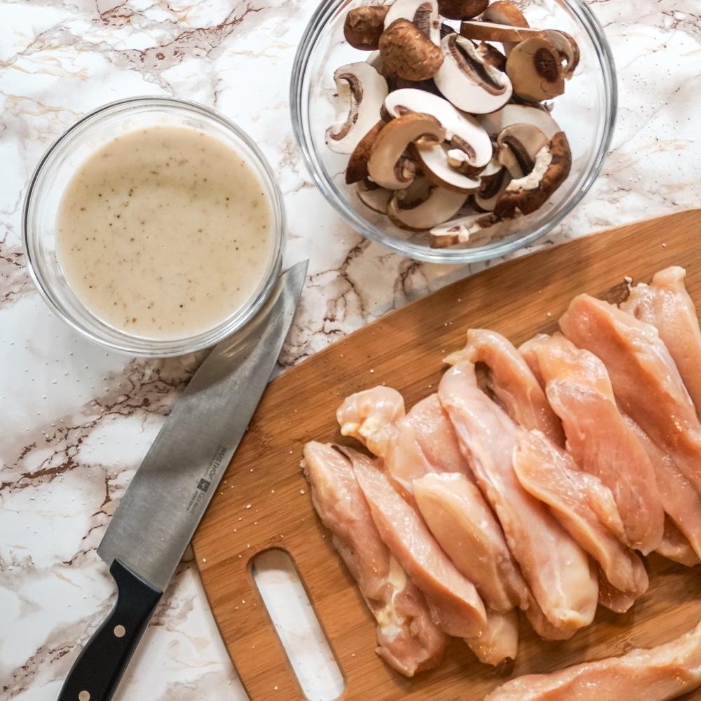 Mushroom Chicken - Mise en Place