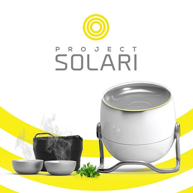 Hello we are Project Solari 🌞🌞 Our 1st product is the Solari eco-cooker! A portable fuel-free, pollution-free outdoor cooker that you can use anywhere  #sustainable #design #solari #solarcooker #outdoorcooking