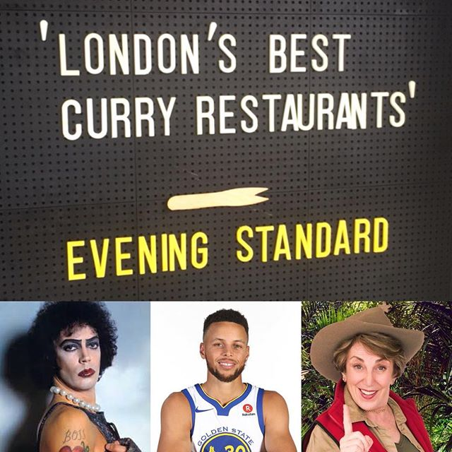 Top four Best Curry's 4) Edwina  3) Stephen 2) Tim 1) Curry On as listed by the Evening Standard... Curry On at the Southbank all the way up to Xmas and beyond... Come get you some! 🥘🥘🍟🍟 #BhunaSooner #VeganKormaComa #SteamyCreamy  @southbankcentre  @warriors @timeoutlondon @streetfeastldn