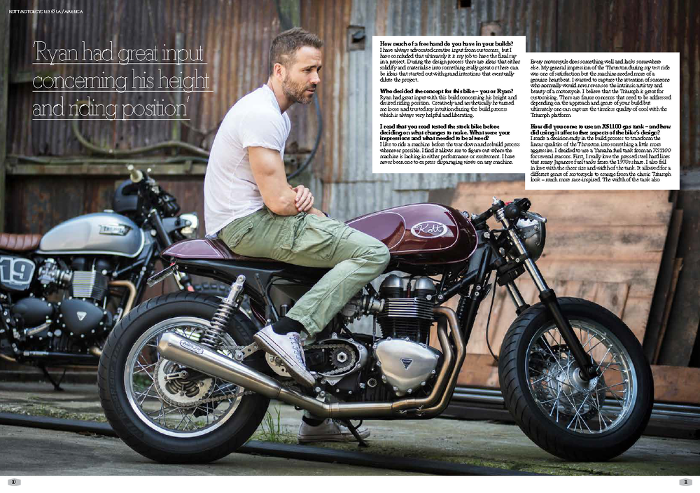 Kott Motorcycles for Ryan Reynolds