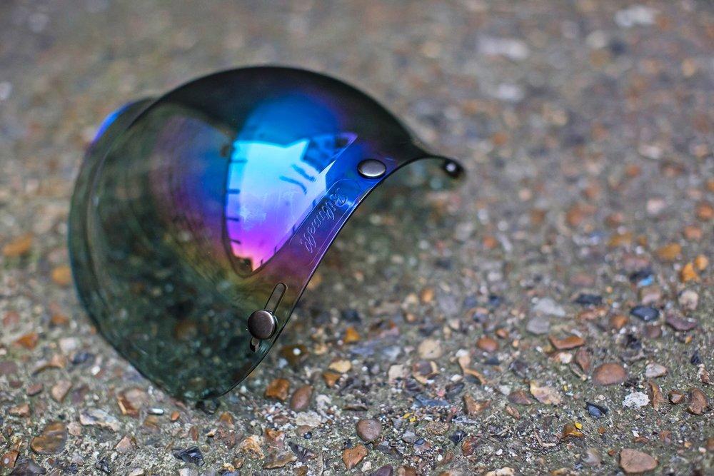 Biltwell Bubble Visor mirror rainbow