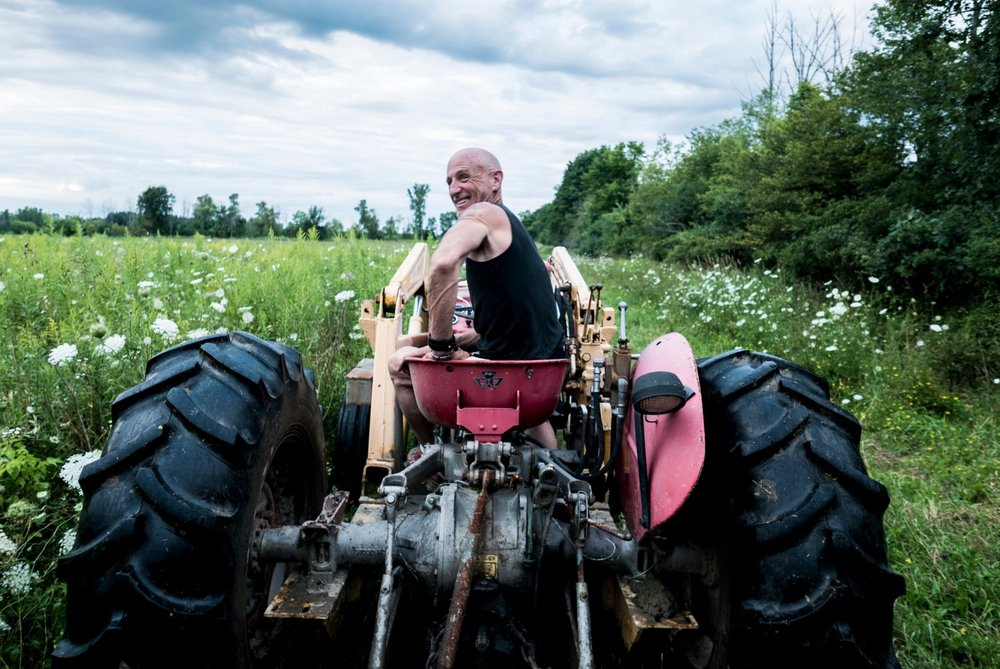 Danny, the Irish-American nightclub owner from Detroit who now runs an organic farm