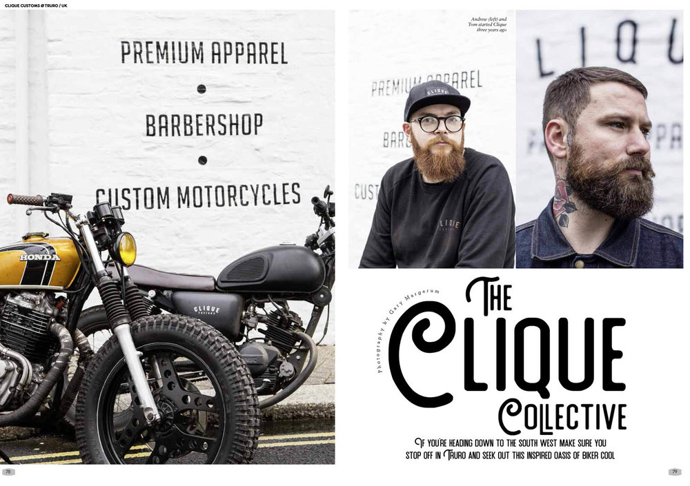 Clique Customs - how custom bike shops should be