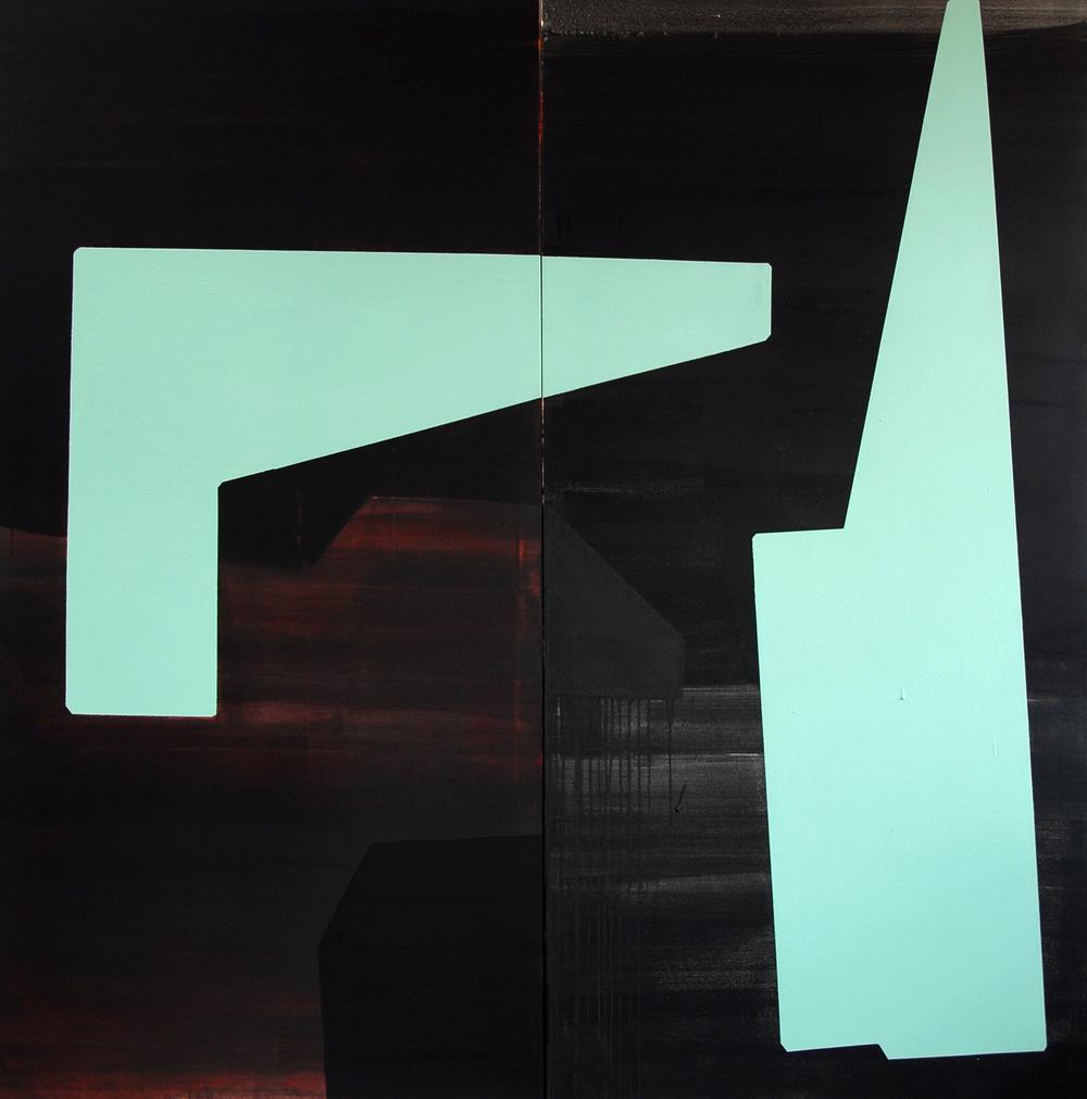 Part.5.2 Presque, mais pas tout à fait: série des différences et répétitions- 2013 Vynile, dispersionet pigments sur toile - 195X195 cm.JPG