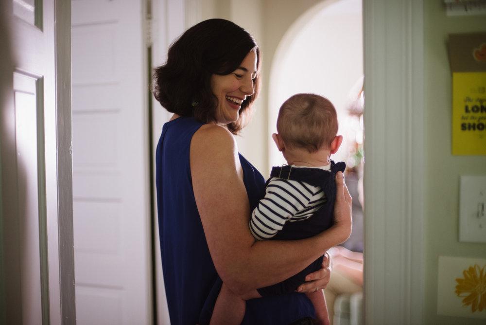 newborn session in garret park in the hallway.jpg