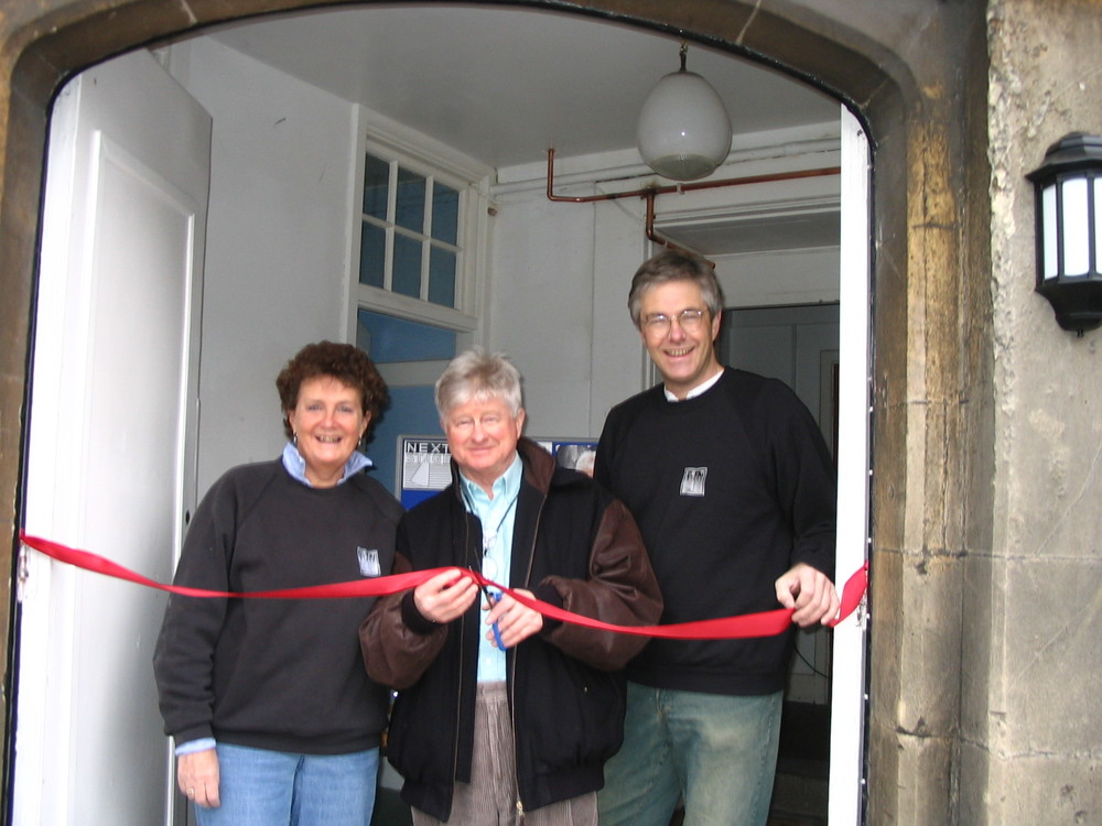 Ann Ellison, friend and patron Chris Harris and Andrew Ellison officially opening The Mission