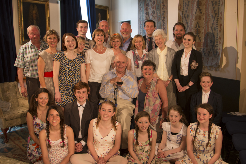 Patron Sir Alan Ayckbourn with members of Next Stage