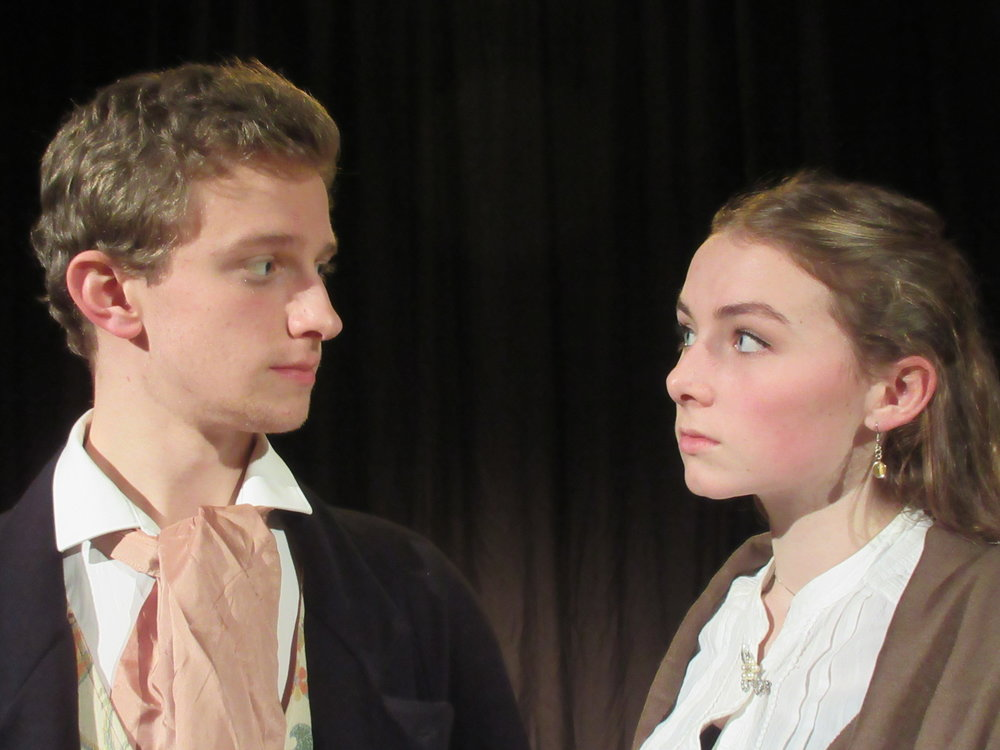 Anthony Harwood as Pip and Amberley Couchman as Estella.JPG