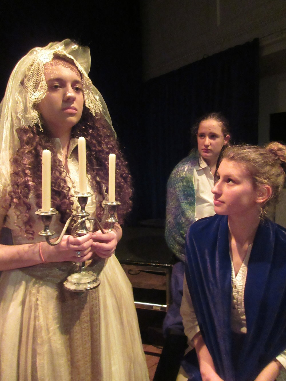 Lydia Gibbons as Miss Havisham with Catherine Jones and Eleanor Harris.JPG