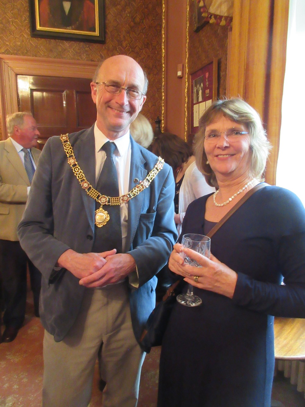 The Mayor of Bath with Next Stage actor and director Alison Paine