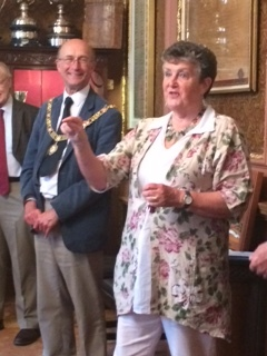 The Mayor of Bath and Artistic Director Ann Ellison