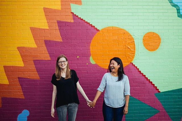 Happy #galentinesday y'all 💕 May your day be as colorful and happy as these two 👭  #lgbtphotographer #queerphotographer #loveislove