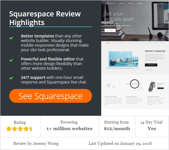 Recent Squarespace Review Article - (www.WebsiteBuilderExpert.com)