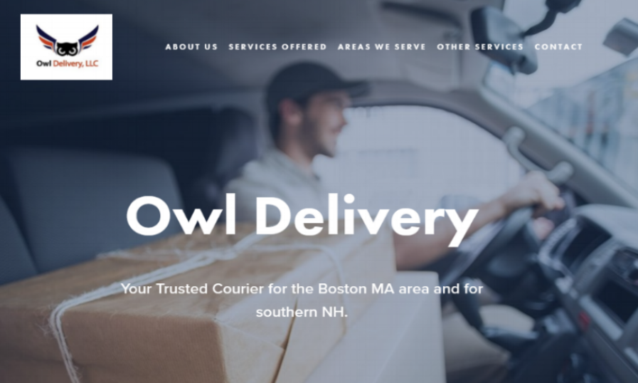 Owl Delivery   Owl Service, a regional door-to-door courier serving Boston and southern NH needed a way to improve their home-made WIX website. They now have a scrolling design which has key information potential clients needed. →   Visit live website