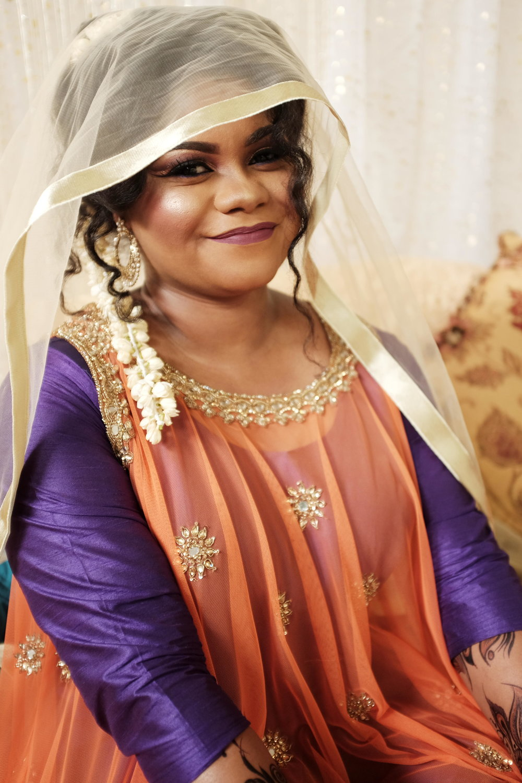 Bride at her Nikkah