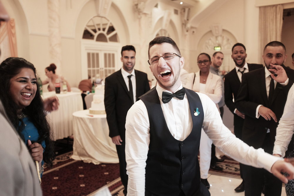 A very happy groom!