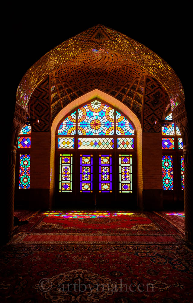 Stunning Mosaic at the Pink Mosque, Shiraz