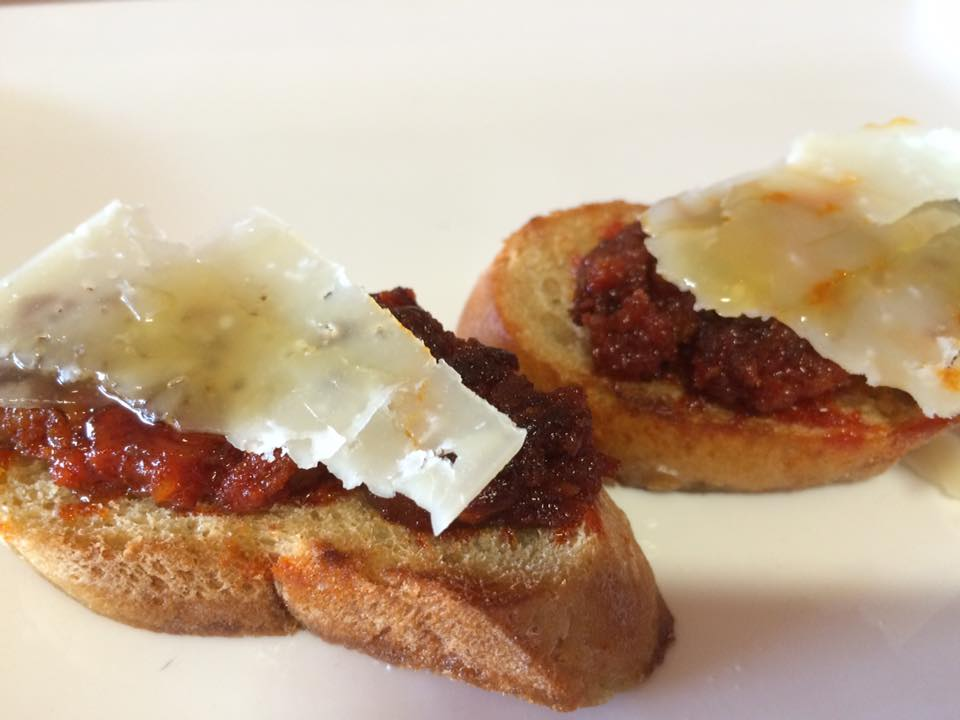 Sobrassada and Manchego Chestnut Honey Toasts!