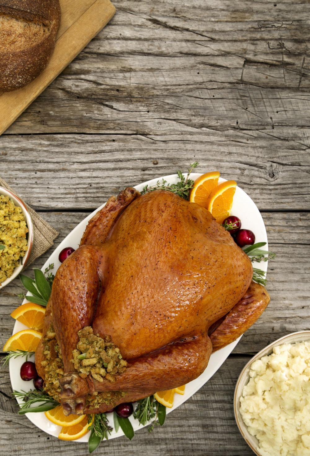Whole Free Range Turkey with Chorizo Stuffing