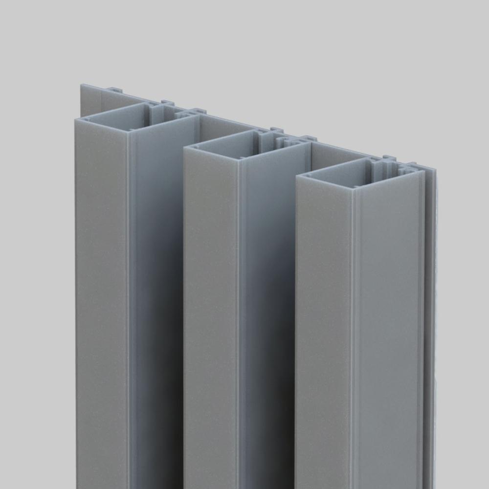 Mato 2 valt op door zijn sterk uitgesproken verticale belijning en een veranderlijk schaduweffect. Het is een blokvormig profiel van 40×30  mm  .