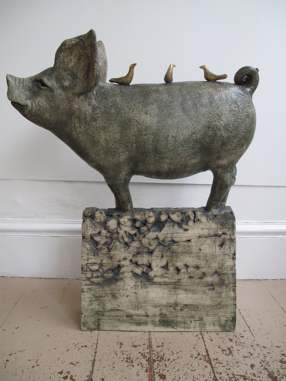 Pig with Three Gold Birds