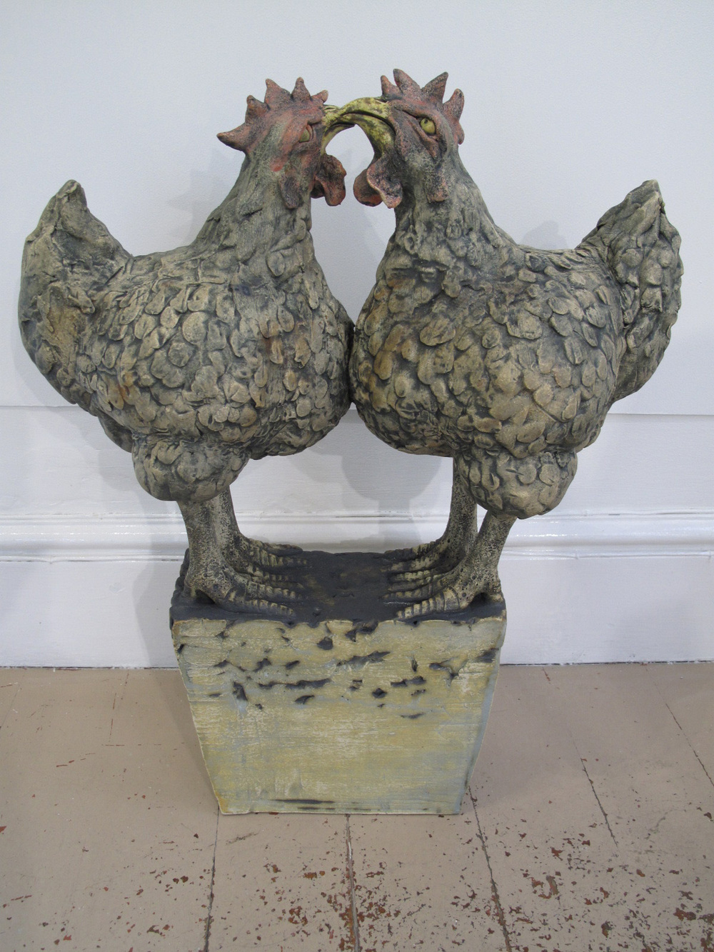Two Chickens on a Plinth