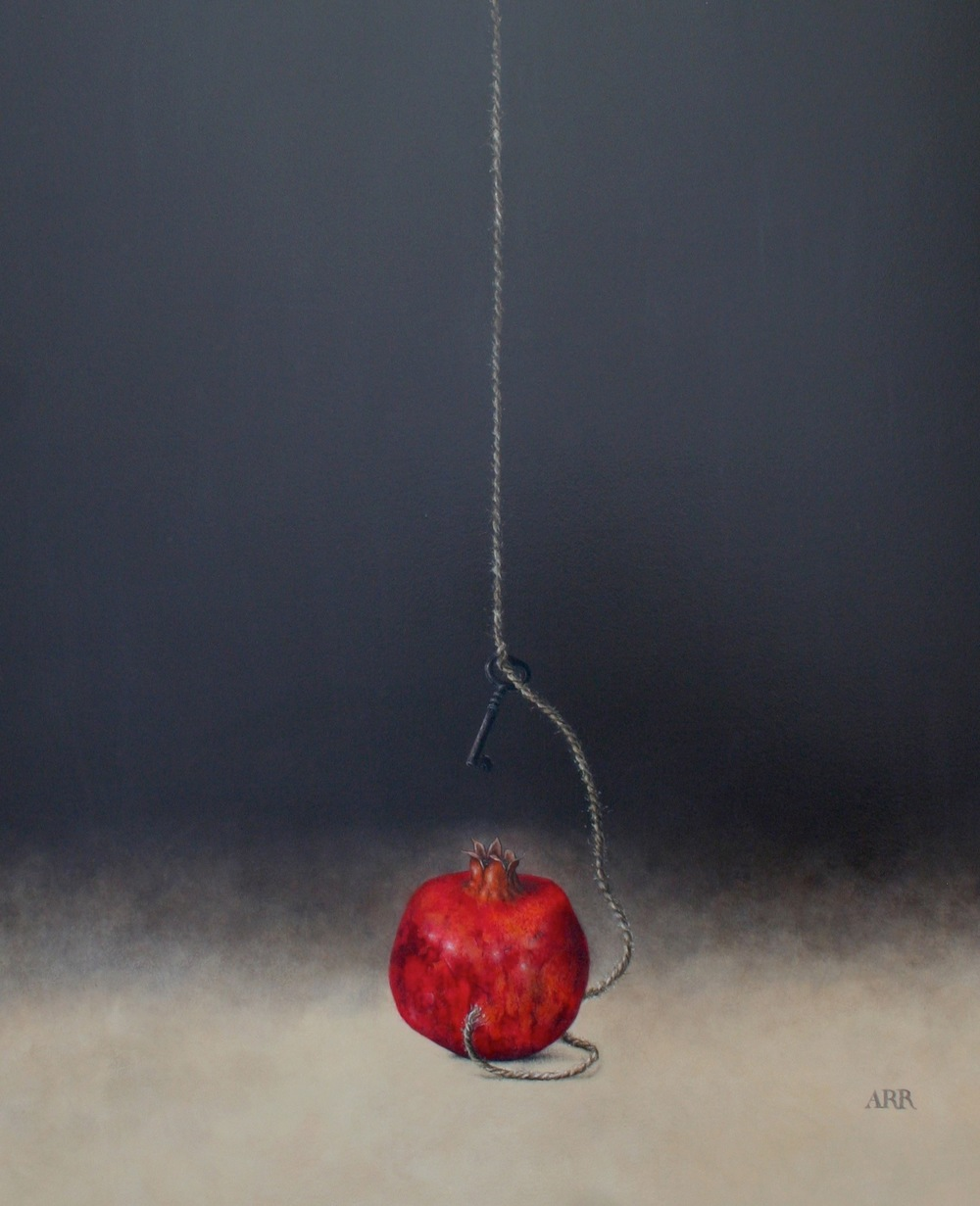 Pomegranate with Hanging Key