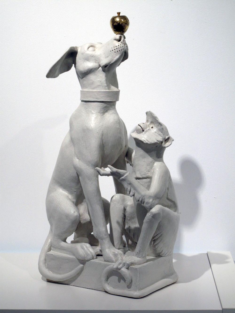 Dog and Langur I