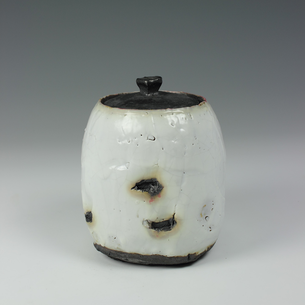 Lidded Jar Shino
